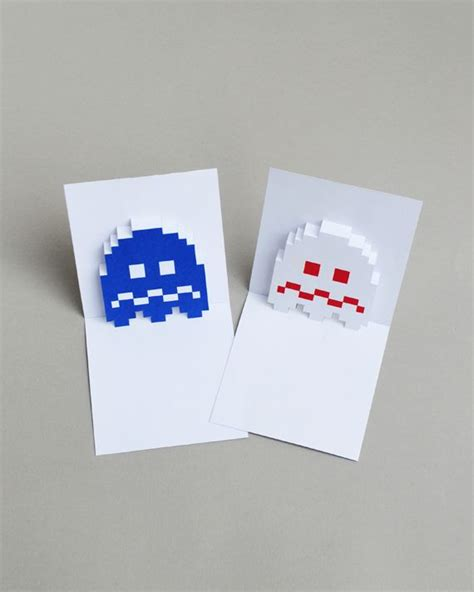 sorry pop up card template pacman ghost popup cards mini eco bloglovin