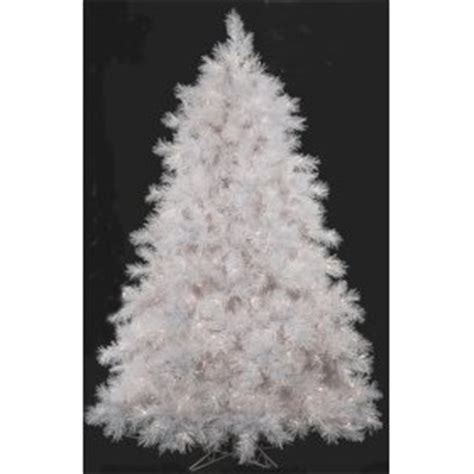 7 5 white donner fir with iridescent artificial christmas
