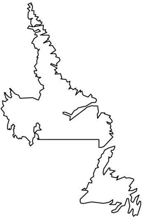 newfoundland map coloring page making independent living possible in newfoundland and