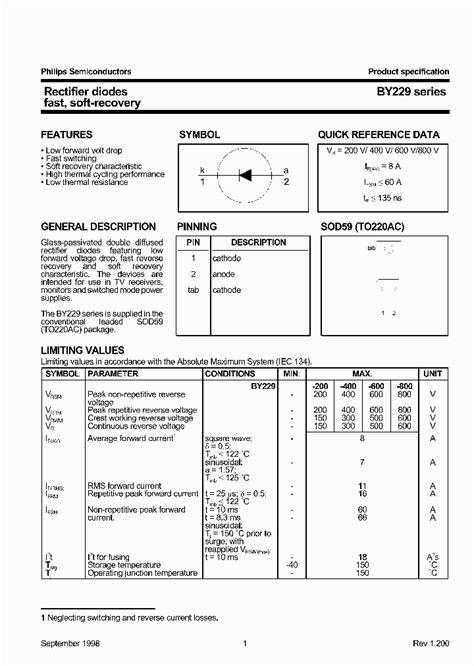 power diodes datasheet by229 200 518390 pdf datasheet ic on line