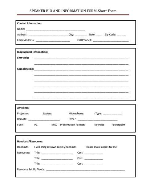 biography short form speaker bio and information short form
