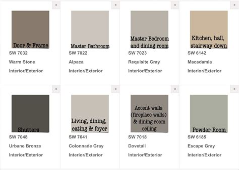 finally picked our house paint colors interior exterior