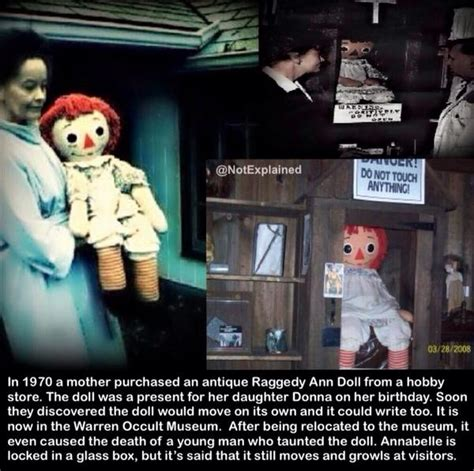 the annabelle doll story the unexplained on quot the story the real