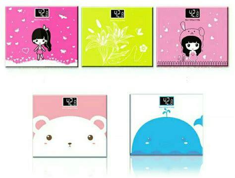 Timbangan Berat Badan Warna Pink timbangan badan mini digital desain kartun 180kg taffware sc 01 sc 02 white pink