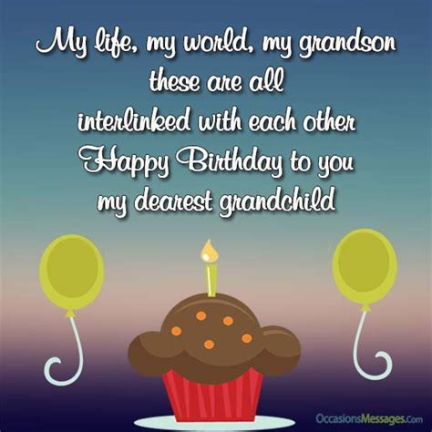 Happy Birthday Wishes To My Grandson Birthday Wishes For Grandson Occasions Messages