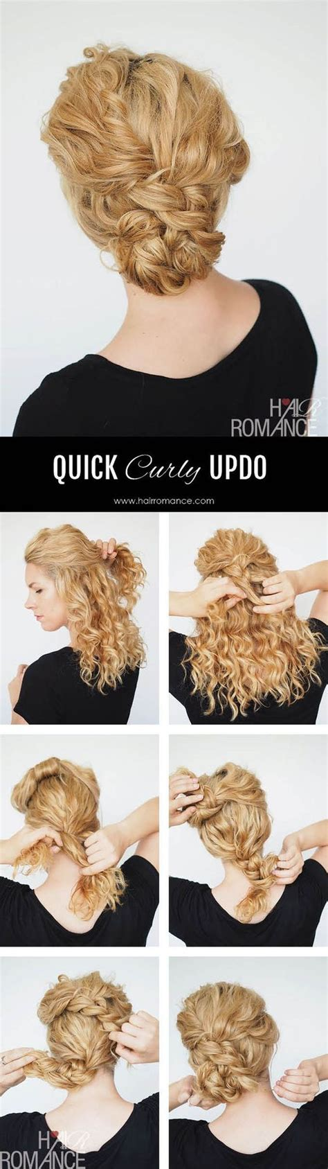 quick and easy hairstyles for curly hair for tweens quick updo for natural curly hair pretty designs