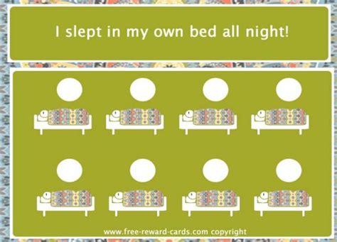printable sleep reward charts for toddlers reward card sleep in own bed website