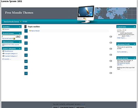 moodle theme version free moodle themes global network by themza