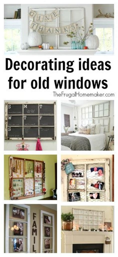 diy home decor use old windows as new photo frames the frugal homemaker your guide to turning your house