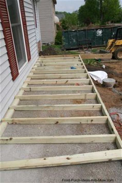 Called Sleepers How To Build A Porch Concrete