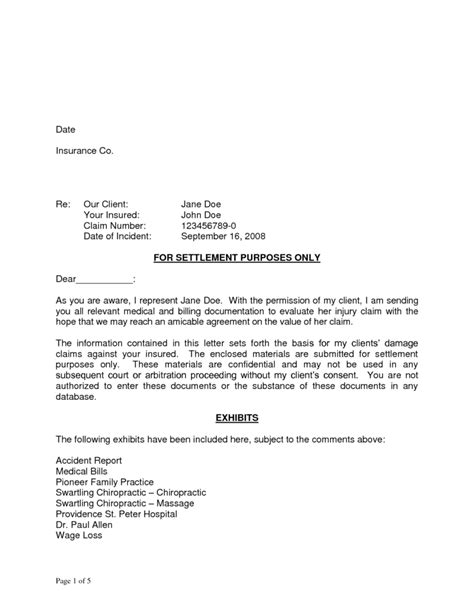 Car Settlement Agreement Letter Car Whiplash Settlement Templates Print Paper Templates