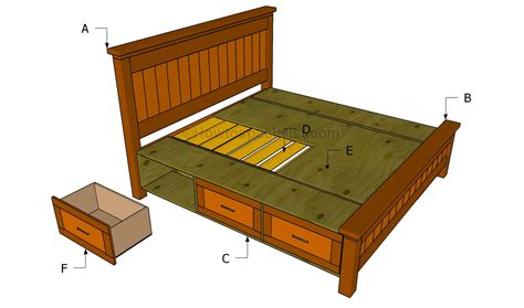 Bed Frame Construction How To Build A Bed Frame With Drawers Howtospecialist