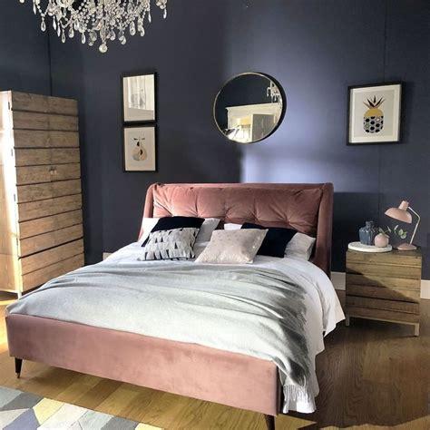 raul bed frame  blush pink barker  stonehouse