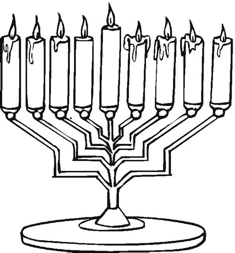 hanukkah menorah coloring page free hanukkah coloring pages