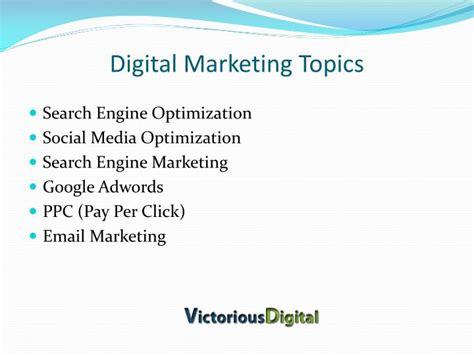 Marketing Seminar Topics Mba by Ppt Digital Marketing Institute Pune Powerpoint
