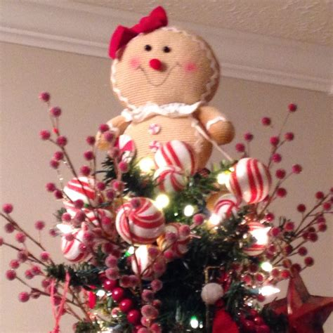 gingerbread tree topper christmas decor and diy ideas