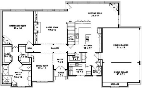 5 Bedroom House Plans 2 Story by 4 Bedroom 2 Story House Floor Plans
