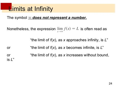 limit approaches infinity lecture 6 limits with infinity