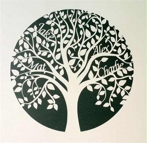Paper Cut Tree Template 64 best images about paper cutting on