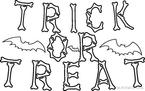 Trick Or Treat Halloween Coloring Kids Trick Or Treat Coloring Page