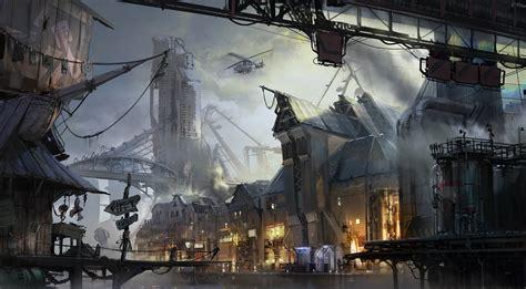 port town cyberpunk port town by ptitvinc on deviantart