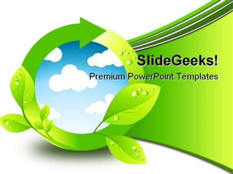 Green Environment Element Nature Powerpoint Background And Template 1210 Environmental Powerpoint Templates