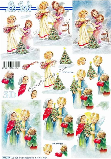 Decoupage For Children - trees children 3d decoupage sheet