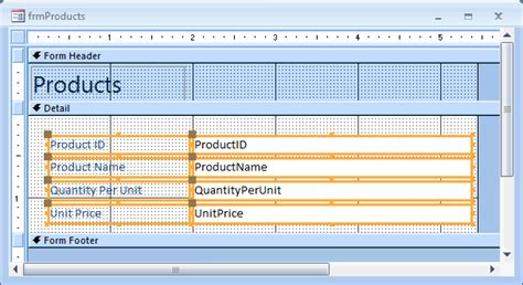 open form in layout view access ms access 2007 group controls on a form