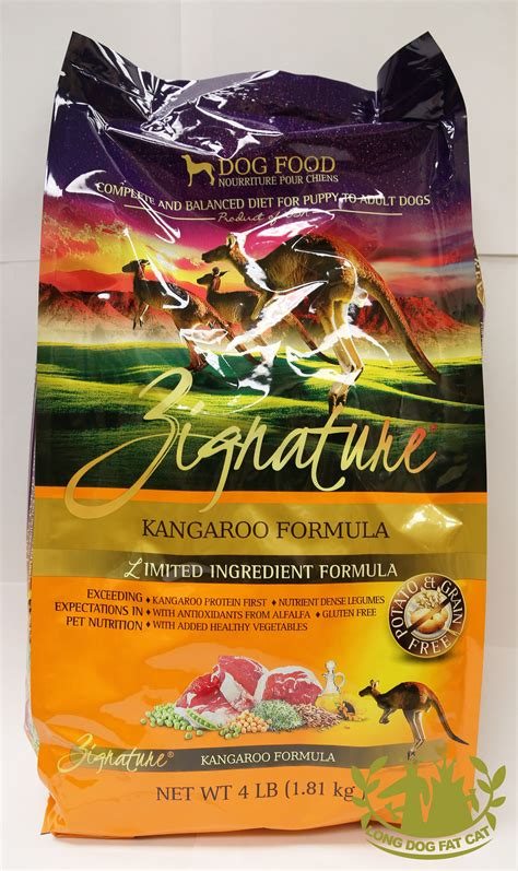 zignature kangaroo food zignature kangaroo canine formulalong cat