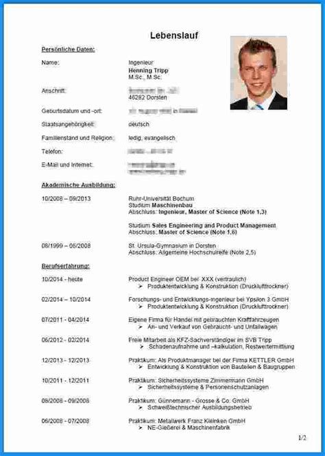 Tabellarischer Lebenslauf Fur Schulerpraktikum 8 lebenslauf f 252 r bewerbung business template