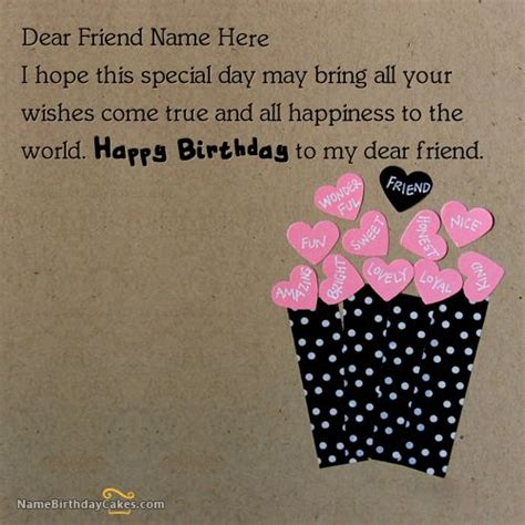wishes for friends images 23 best images about birthday name cards for friends on
