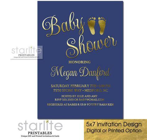 abstract baby shower invitation boys navy mint gold dot navy blue gold baby shower invitation boy baby feet prints