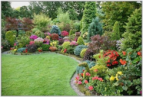 garden in backyard beautiful garden flower landscaping design ideas to