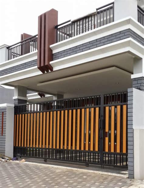 desain lu pagar rumah memilih design pagar rumah minimalis sederhana tapi