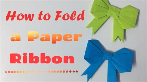 How To Make Ribbon With Paper - fold how to fold a paper bow ribbon how to make a paper