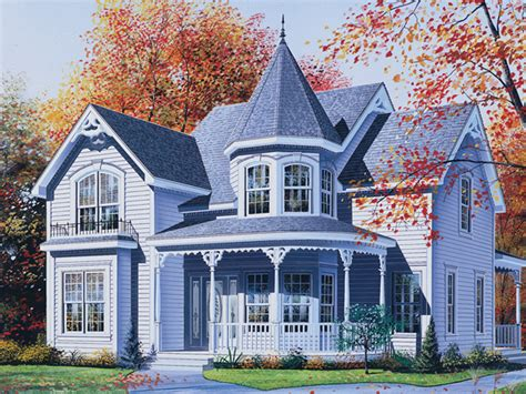 Palmerton Victorian Home Plan 032d 0550 House Plans And More House Plans With Turrets