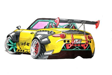 drift cars drawings new mazda miata mx 5 drift car with rocket bunny style