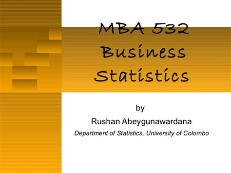 Booth Part Time Mba Essay Analysis by Mba 532 2011 Part 3 Time Series Analysis