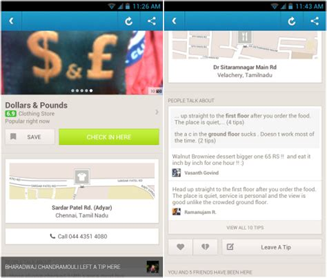 foursquare for android android guyz foursquare for android updated with new explore features swipeable venue photos
