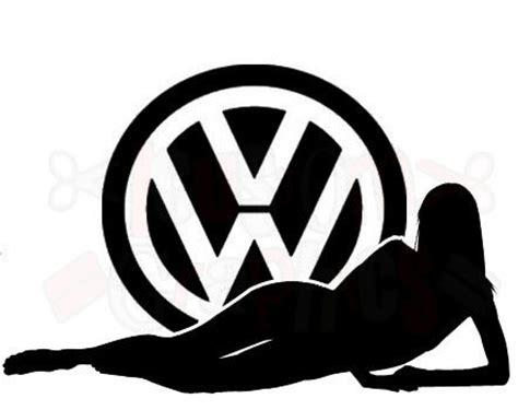 vw sexy girl car sticker logo vinyl graphics decals beetle polo golf novelty fun ebay