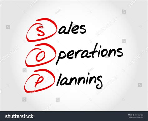 Mba Finance Acronyme by Sop Sales Operations Planning Acronym Business Stock