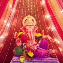 simple ganpati decoration at home www imgkid the