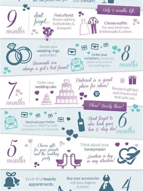 How To Plan A Wedding by 12 Months Before Wedding Planning Checklist Visual Ly