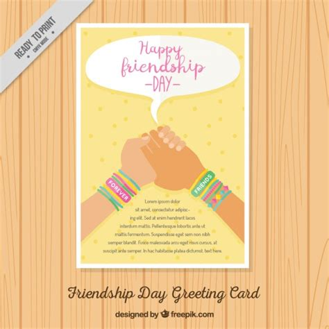 happy friendship day brochure vector free download