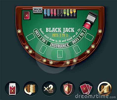 table layout vector vector blackjack table layout stock images image 15086174