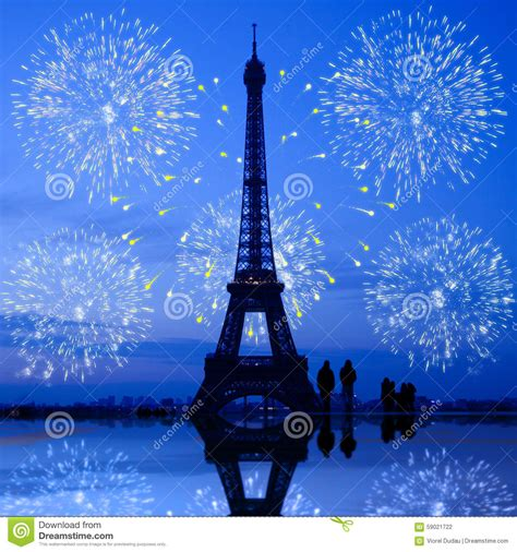 fireworks at eiffel tower stock photo image 59021722