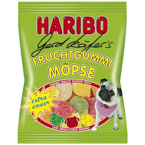 pug gummies made in germany haribo pug sour gummy bears 200 g ebay