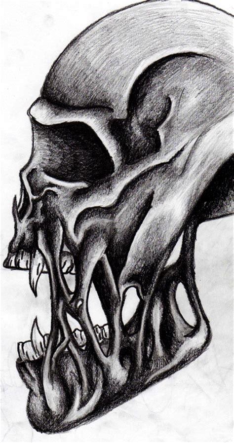 Torn Skeleton skull torn flesh by dazo on deviantart