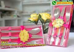 Sendok Garpu Set Melamin sendok plastik warna packaging souvenir pernikahan