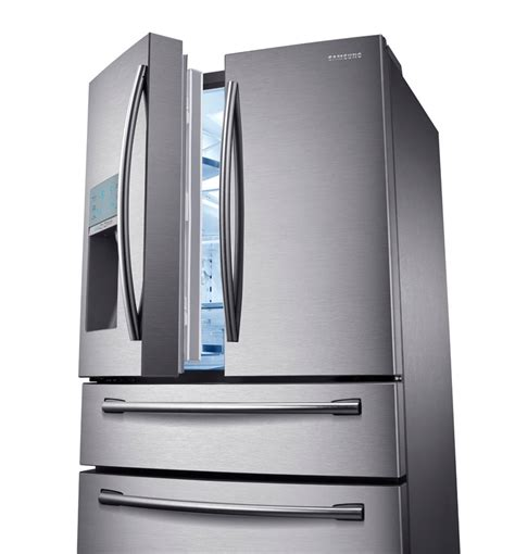 samsung rf31fmesbsr 31 cu ft 4 door refrigerator with automatic sparkling water